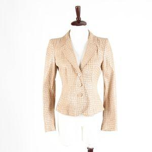 ARMANI COLLEZIONI – Croc Leather Jacket – 6